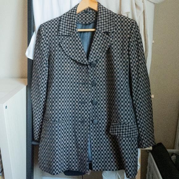 Vintage Jackets & Blazers - Vintage Checkered Blazer